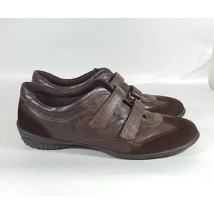 Ecco sneakers leather brown athletic shoes 41